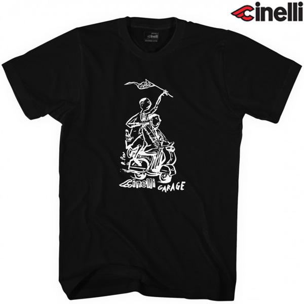 Cinelli(チネリ)RUSS POPE GARAGE(ラスポープ ガレージ)Tシャツ(ブラック)
