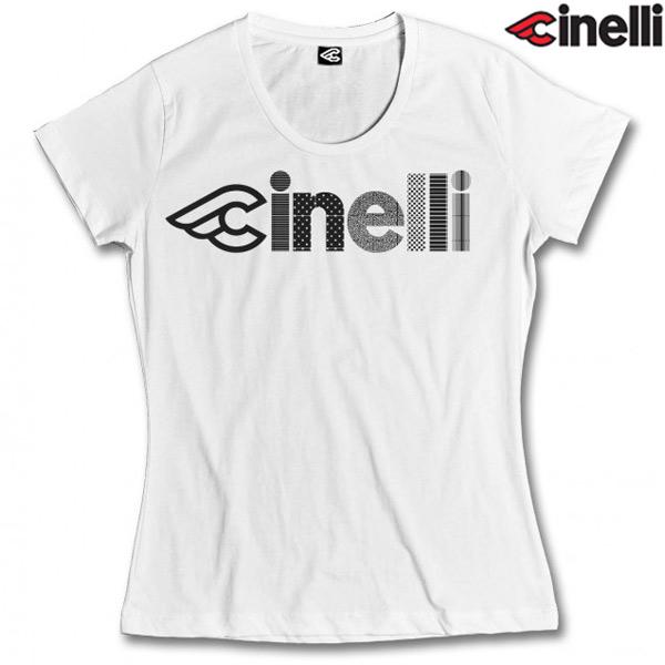 Cinelli(チネリ)OPTICAL LADY(オプティカル レディ)Tシャツ(ホワイト)