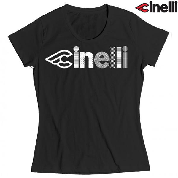 Cinelli(チネリ)OPTICAL LADY(オプティカル レディ)Tシャツ(ブラック)