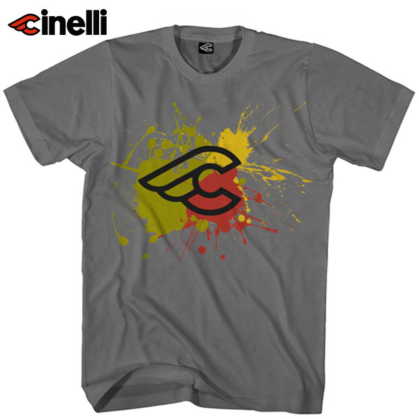 Cinelli(チネリ)SPLASH(スプラッシュ)Tシャツ(チャコール)