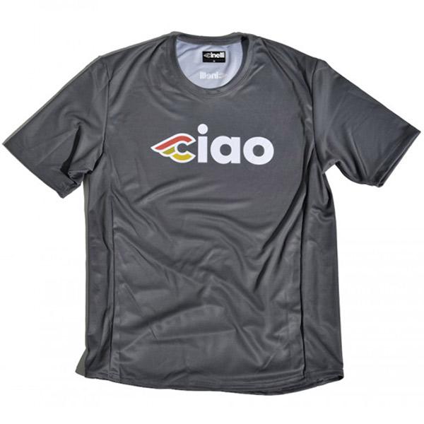 Cinelli(チネリ)CIAO(チャオ)TECH TEE(テックTシャツ)(TITANIUM GREY(チタニウムグレー))