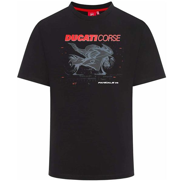 DUCATI CORSE(ドゥカティ コルセ)PHOTOGRAPHIC(フォトグラフィック)Tシャツ(ブラック)