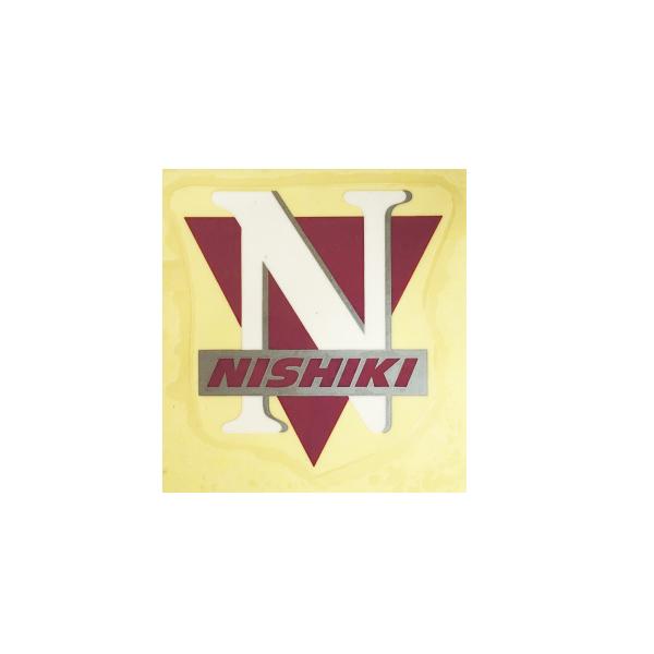 NISHIKI(ニシキ)ビンテージヘッドマーク ステッカー(ワインレッド/ホワイト)