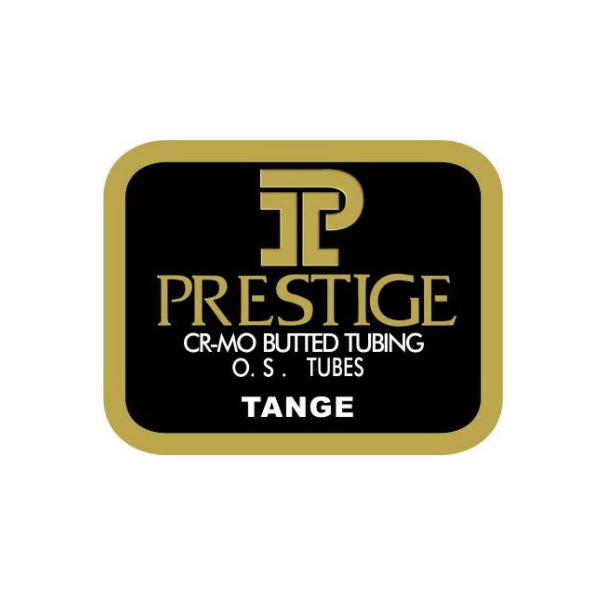 TANGE(タンゲ)PRESTIGE(プレステージ)オーバーサイズ チュービングステッカー(ブラック/ゴールド)