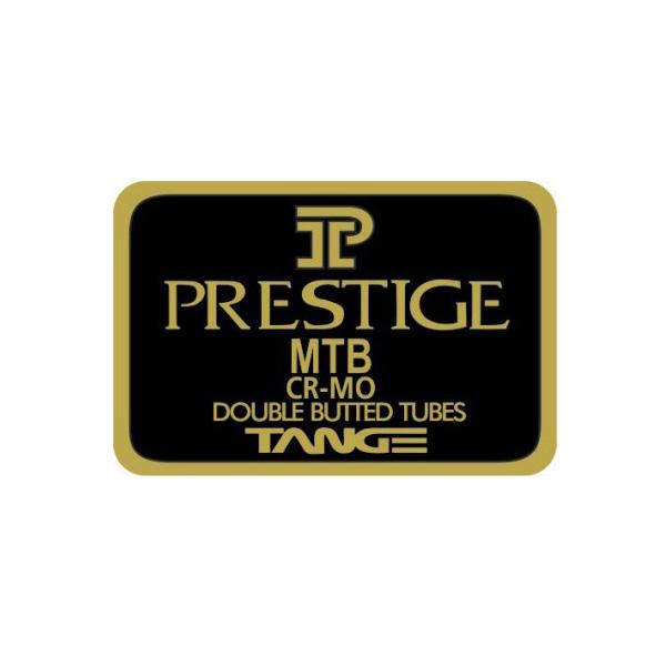 TANGE(タンゲ)PRESTIGE(プレステージ)MTBチュービングステッカー(ブラック/ゴールド)