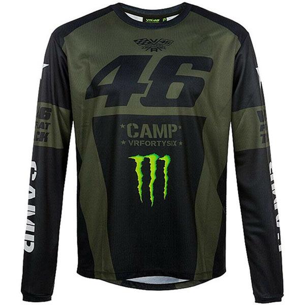 Valentino Rossi(バレンティーノロッシ)CAMP Long Sleeve(キャンプ ロングスリーブ)Tシャツ(ブラック)