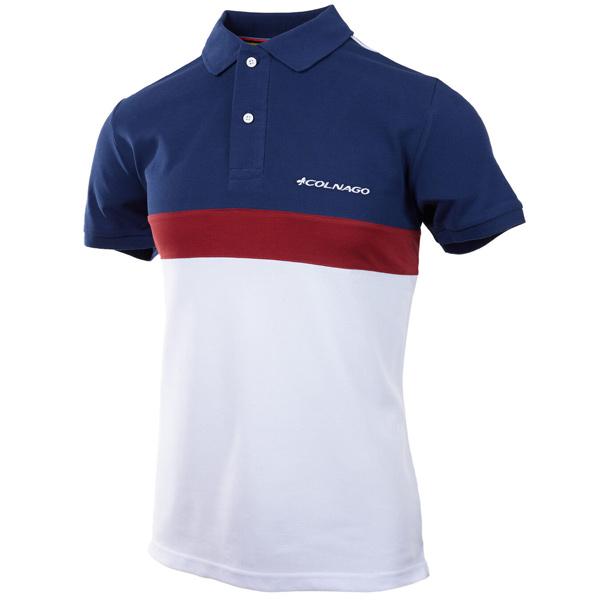 COLNAGO(コルナゴ)ポロシャツ(ネイビーブルー/レッド)