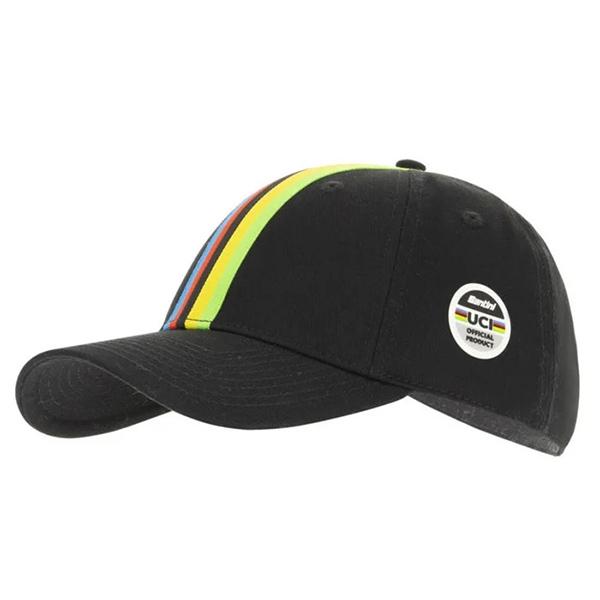 Santini(サンティーニ)UCI(ユーシーアイ)BASEBALL CAP(ベースボールキャップ)(ブラック)