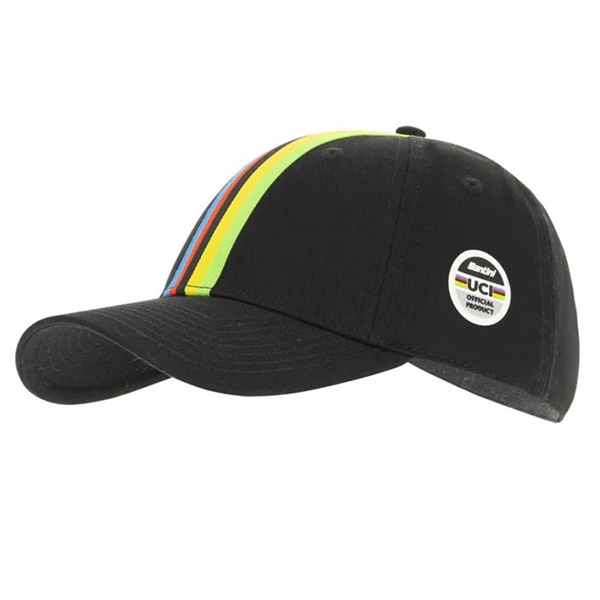 Santini(サンティーニ)UCI OFFICIAL BASEBALL CAP(ユーシーアイ オフィシャル ベースボールキャップ)(ブラック)
