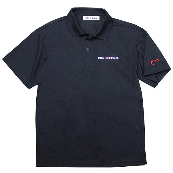 DE ROSA(デローザ)ドライポロシャツ(ブラック)