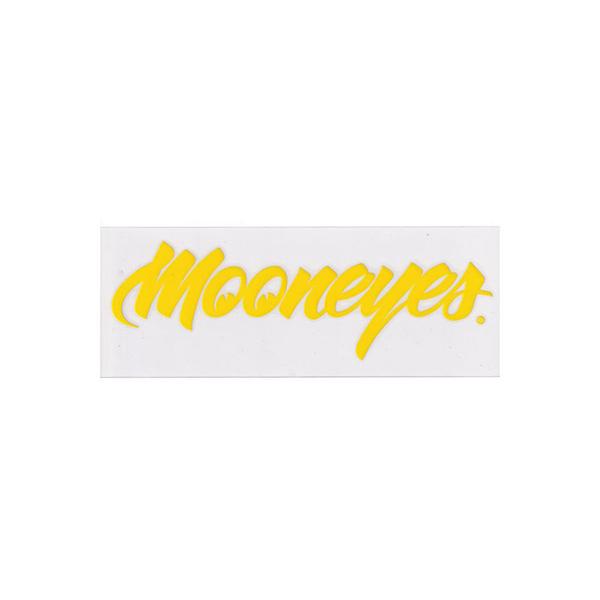 MOONEYES(ムーンアイズ)転写ステッカー(太文字フォントタイプ/イエロー)