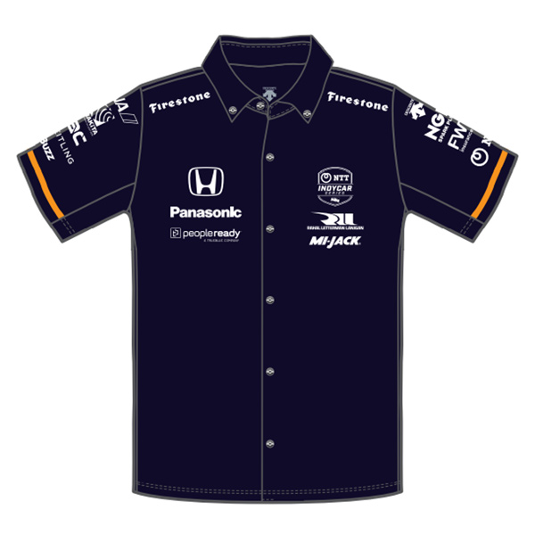 "Takuma Sato(佐藤琢磨)ドライバーズシャツ(2021/Peopleready""INDY500""仕様/ネイビー)"