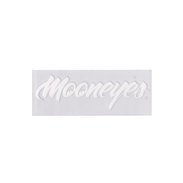 MOONEYES(ムーンアイズ)転写ステッカー(太文字フォントタイプ/ホワイト)
