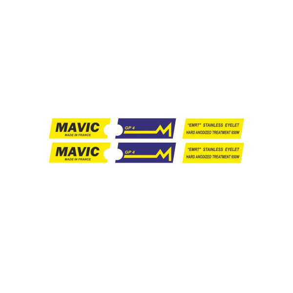 MAVIC(マヴィック)GP4 リムステッカー(イエローバージョン)