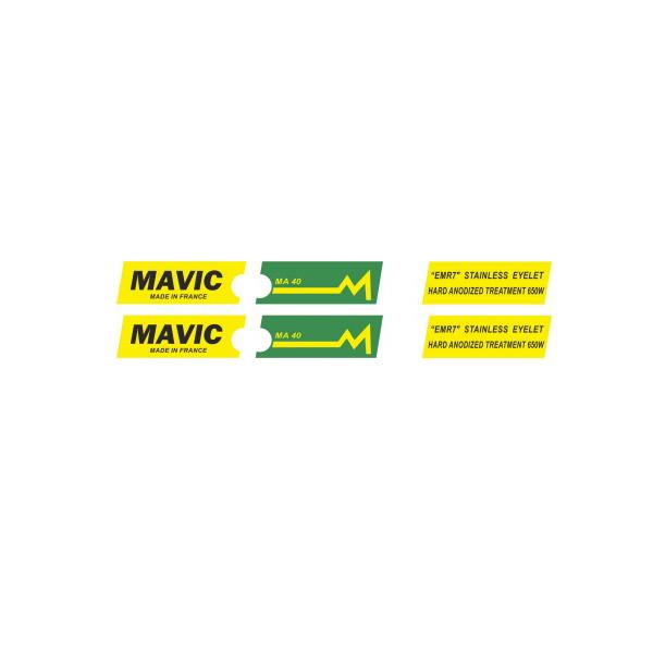MAVIC(マヴィック) MA 40 リムステッカー(グリーンバージョン)