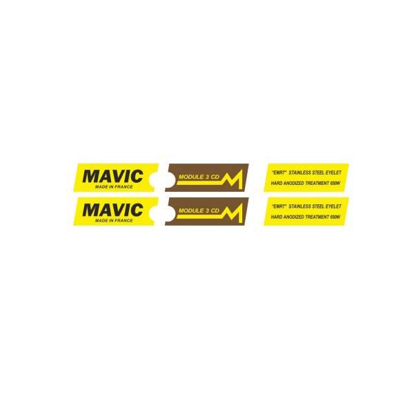 MAVIC(マヴィック)MODULE(モジュール)3 CD リムステッカー(ブラウンバージョン)