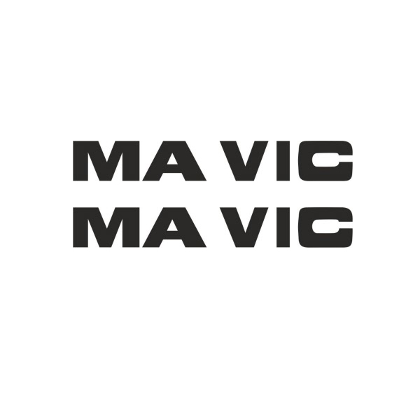 MAVIC(マヴィック)ビンテージリムV2ステッカー(ブラック)