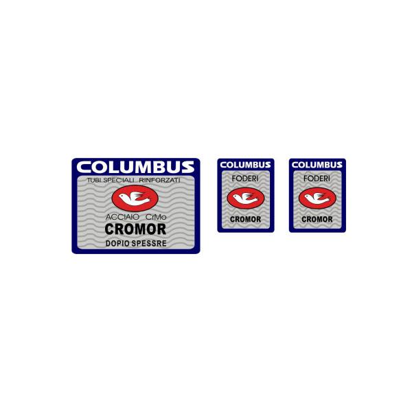 COLUMBUS(コロンバス)CROMORシートチューブ&フロントフォークステッカーセット