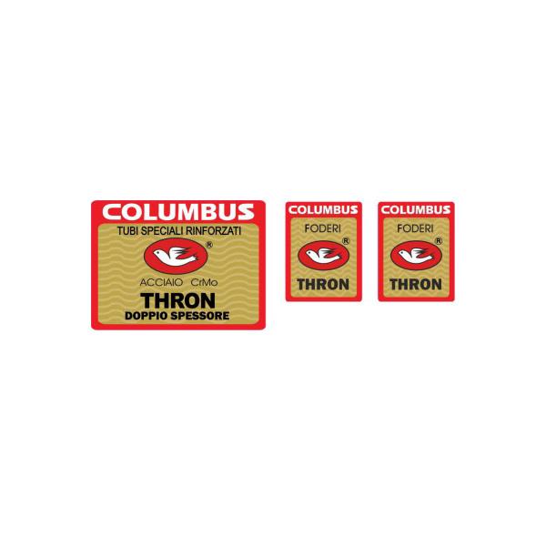 COLUMBUS(コロンバス)THRON(トロン)シートチューブ&フロントフォークステッカーセット