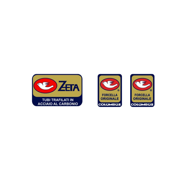 COLUMBUS(コロンバス)ZETA(ゼータ)シートチューブ&フロントフォークステッカーセット